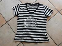 süßes Top /T-Shirt, Gr.S , schwarz-weiß, wie neu