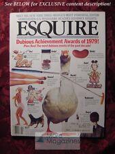 ESQUIRE January 1980 DUBIOUS Achievements 1979 ABE ROSENTHAL VMI John J. Clayton