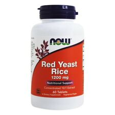 NOW Foods Red Rice Yeast 1200 mg., 60 Tablets