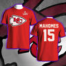 Kansas City Chiefs LIV Super Bowl Bound Patrick Mahomes 15 NFL Men's T-Shirt Tee