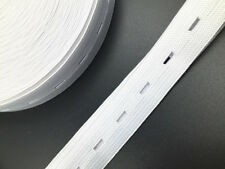 3MButton Hole Elastic Band Woven for Dress Making Trousers Sewing Craft white2cm