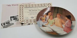 1987 Knowles Collection Sound of Music Vintage Plate My Favorite Things COA