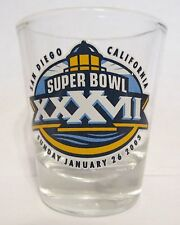 Super Bowl XXXVII  San Diego Shot Glass January 26 2003 Qualcalm Stadium