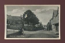 Wales Caenarfonshire TREFRIW Church and village c1950/60s? PPC