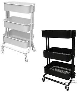 RASHULT, Servierwagen, schwarz oder weiß, IKEA, 38x28x65cm, NEU
