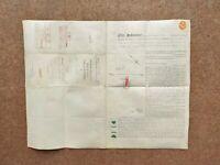 1890 St Pancras London booklet style Vellum Deed Document Indenture Colour Plan