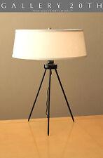 RARE! MID CENTURY DANISH MODERN TRIPOD LAMP! Atomic Desk Vtg 50s Eames Lighting