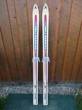"""Old 54"""" Long  Skis with Bindings Signed DYNASTAR"""