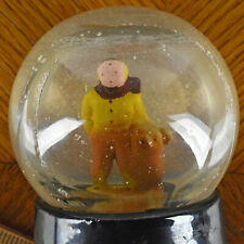 Vtg Atlas Crystal Works Glass Snow Globe Snowdome Boy and His Dog Covington Tn