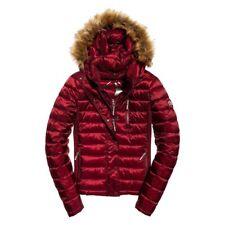 12# Superdry Luxe Fuji Double Zip Hooded Jacket - Size Large UK 14