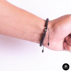 Kavak - Handmade Onyx Beads Adjustable Men's Bracelet