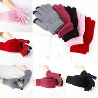 Warm Unisex Touch Screen Non-slip Gloves Cycling Gloves Knitting Plus Velvet