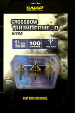 New 2018 Nap Thunderhead Nitro Crossbow Broadhead 100 gr. (3 Pack) Fixed Blade