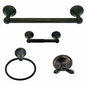 Black Oil Rubbed Brass Bathroom Accessories Set Bath Hardware Towel Bar yset015