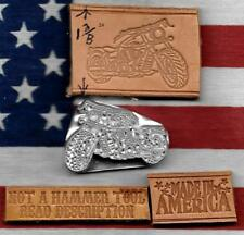 Boss Buckshot Leather Tool Made Of Strong Engraved Metal Custom Motor Cycle #E