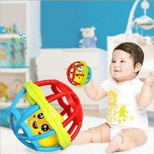 Baby Infant Bendy Ring Bell Ball Rattle Soft Development Toy Cute Plastic