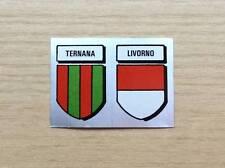 FIGURINE LAMPO / FLASH - CALCIO FLASH '82 - SCUDETTI:  TERNANA/LIVORNO - ARGENTO