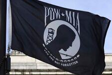 3x5 FT POW-MIA Black Flag You are Not Forgotten Prisoner of War Polyester Banner