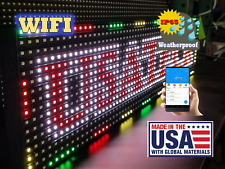 """Full Color 38""""x 6.5"""" P10 LED Sign WIFI /OUTDOOR  (Made & Ship from USA)"""