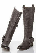 Women's Synthetic Cuban Knee High Boots
