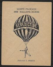 France covers Scarce Advertising cover Beneditine Balloon not sent