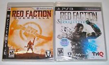 PlayStation 3 Game Lot - Red Faction Guerrilla (New) Red Faction Armageddon (New