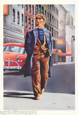 POSTER/DRAWING:ACTOR: JAMES DEAN - WALKING DOWN STREET - FREE SHIP #6252 RW24 L