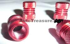 RED Metal Chrome 4 Tire Valve Stem Caps Car Truck Motorcycle Bicycle NEW+