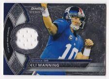 ELI MANNING 2011 Bowman Sterling Veteran Game-Used Relic #BSR-EM Giants NM - MT