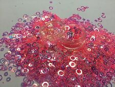 Beautiful Glitter Mix Nail Art holo salmon Hoops For Acrylic & Gel Application