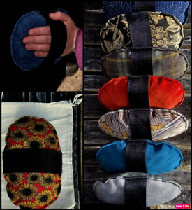 Strapping Pad & Dust Bag. Real Leather & Velvet, Tartan, Tweed etc. Horsey Gift