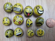STORY STONES  EMOTIONS Hand Painted Pebbles x12 FOREST SCHOOL LITERACY EDUCATION