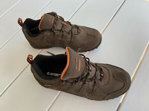 Men's Hi-Tec Lace up Water Proof Walking Shoes - Brown - Size US 10/UK9/EUR43