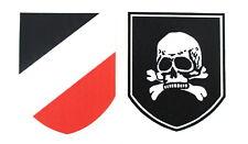 Helmabzeichen Stahlhelm Abziehbild Wasserlöslich Decal Wehrmacht Werwolf