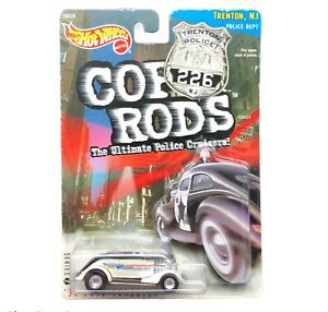 Hot Wheels 1933 33 Ford Roadster Convertible Cop Rods Trenton NJ Police Car 1/64