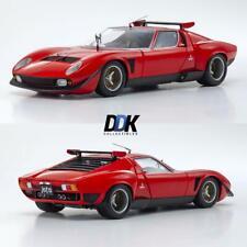 Kyosho K08319R - Lamborghini Miura SVR- Red/Black Diecast Model Car 1:18