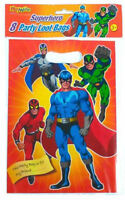 8 Super Hero Empty Party Bags - Toy Loot Gift Wedding/Kids Plastic