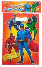 8 Super Hero Empty Party Bags - Toy Loot Gift Wedding/Kids Plastic