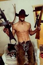 Shirtless Male Muscular Beefcake Hunk Country Dude Cowboy Guns PHOTO 4X6 D609