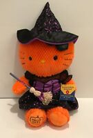 "Build A Bear Halloween Hello Kitty Orange Plush with Witch Outfit 18"" Tall"