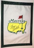 Bryson DeChambeau signed Masters flag 2021 masters pga golf psa dna loa
