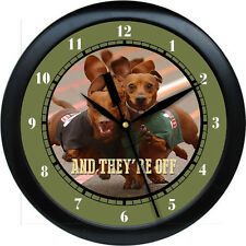 Personalized They're Off Dachshund Wall Clock Dog Pet Gift  Vetranarian