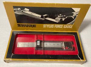 Vintage Shure Precision Stylus Force Gauge Model SFG-2 Record Cartridge w/Box