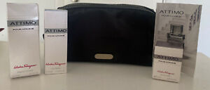 Salvatore Ferragamo Attimo Parfums Toiletry Travel Kit Cosmetic Bag Aftershave