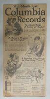 "Columbia Records  Ad: ""Al Jolson A Lump of Sugar"" from 1917 Size: 7 x 15 inches"