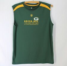 Green Bay Packers Sleeveless Shirt Youth XL 18 Green Yellow NFL Team Apparel