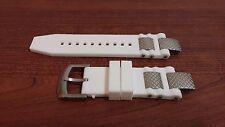 Silicone Rubber Band Strap White For Invicta Subaqua Noma III Noma 3 - ORIGINAL