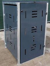 Mülltonnenbox, Mülleimer, Mülltonnenverkleidung, Müllbox. schwarz, aus Metall