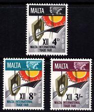 Malta 1968 International Trade Fair Complete Set SG 402 -404 Unmounted Mint