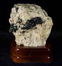Tourmaline On Quartz Crystal Cluster Natural Specimen from Brazil